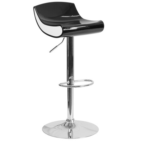 Flash Furniture Contemporary Adjustable Height Plastic Barstool with Chrome Base Multiple Colors ()