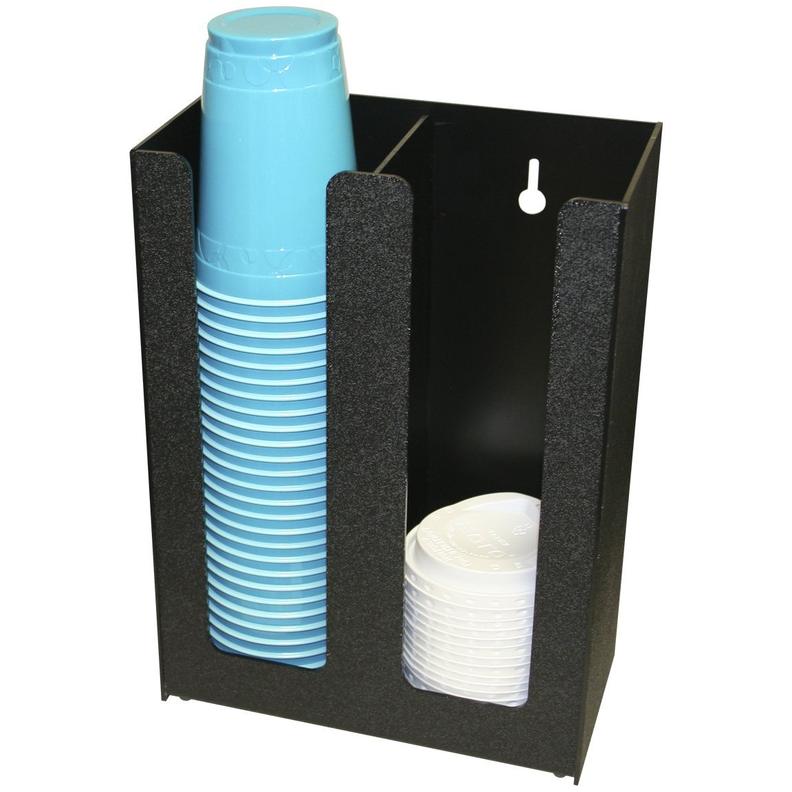 Coffee or Solo Cup and Lid Holder Dispenser and Organizer, Countertop, PC-200BLK