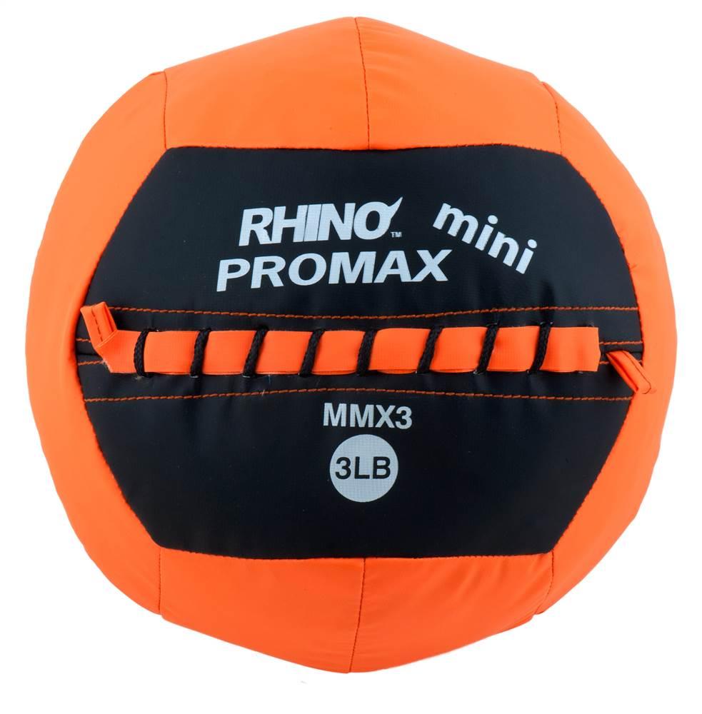 """Champion Sports Mini Rhino Promax Medicine Balls ORANGE 3 LBS/10"""" DIAMETER"""