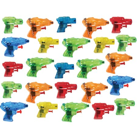 Charmed Mini Colorful Squirt Water Guns Blasters for Kids Birthday Party Party Favors, Pool Beach Toys, (25 Pack) - Halloween Birthday Party Kids