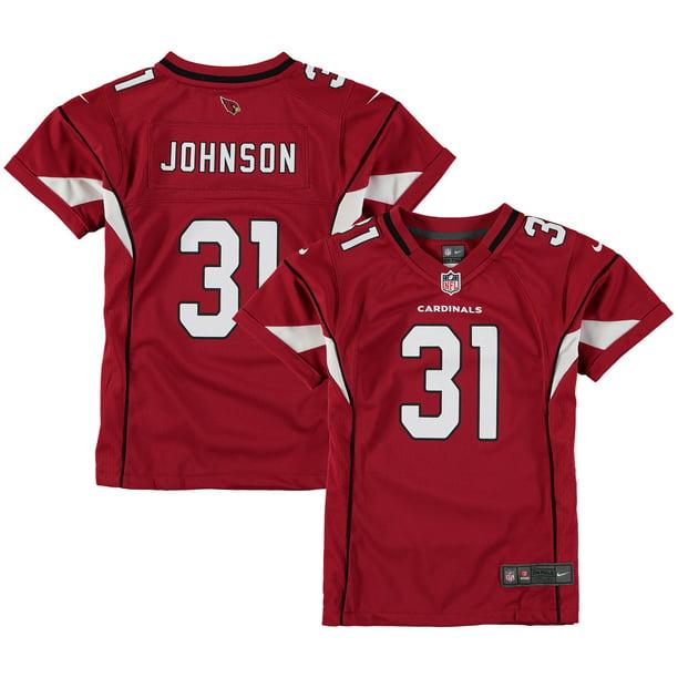 David Johnson Arizona Cardinals Nike Girls Youth Game Jersey - Cardinal