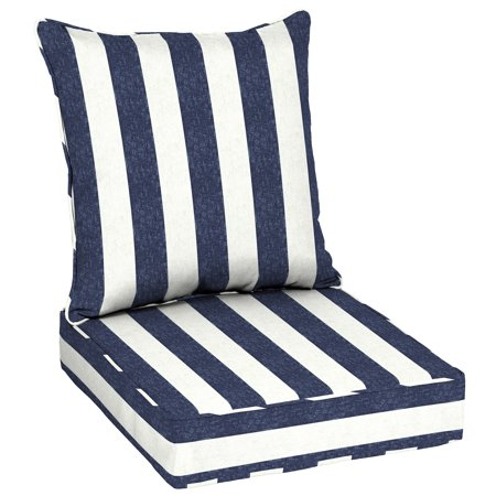 Better homes and gardens pointelized ogee outdoor deep seating cushion set for Better homes and gardens deep seat cushion