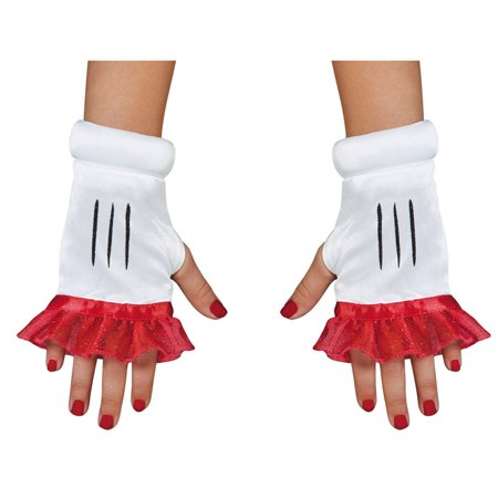 Morris Costumes Accessories & Makeup Minnie Mouse Child Glovettes, Style DG87819](Makeup Costumes)