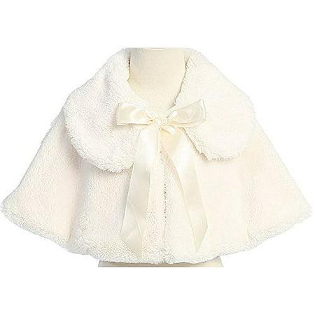 9a92931d8 P Dreamer P - Little Baby Girls Faux Fur Satin Tie Flower Girl ...