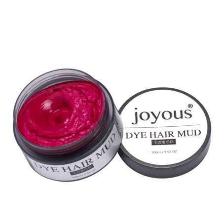 Unisex DIY Hair Color Wax Mud Dye Cream Temporary Modeling 7 - Temporary Red Hair Color