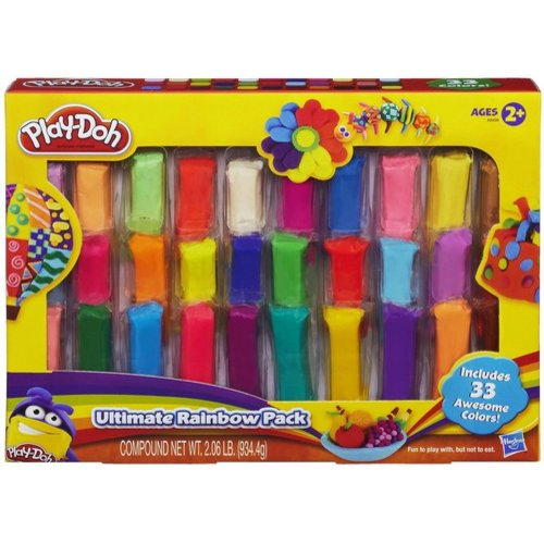 Play-Doh Ultimate Rainbow 33 Pack, 33 oz