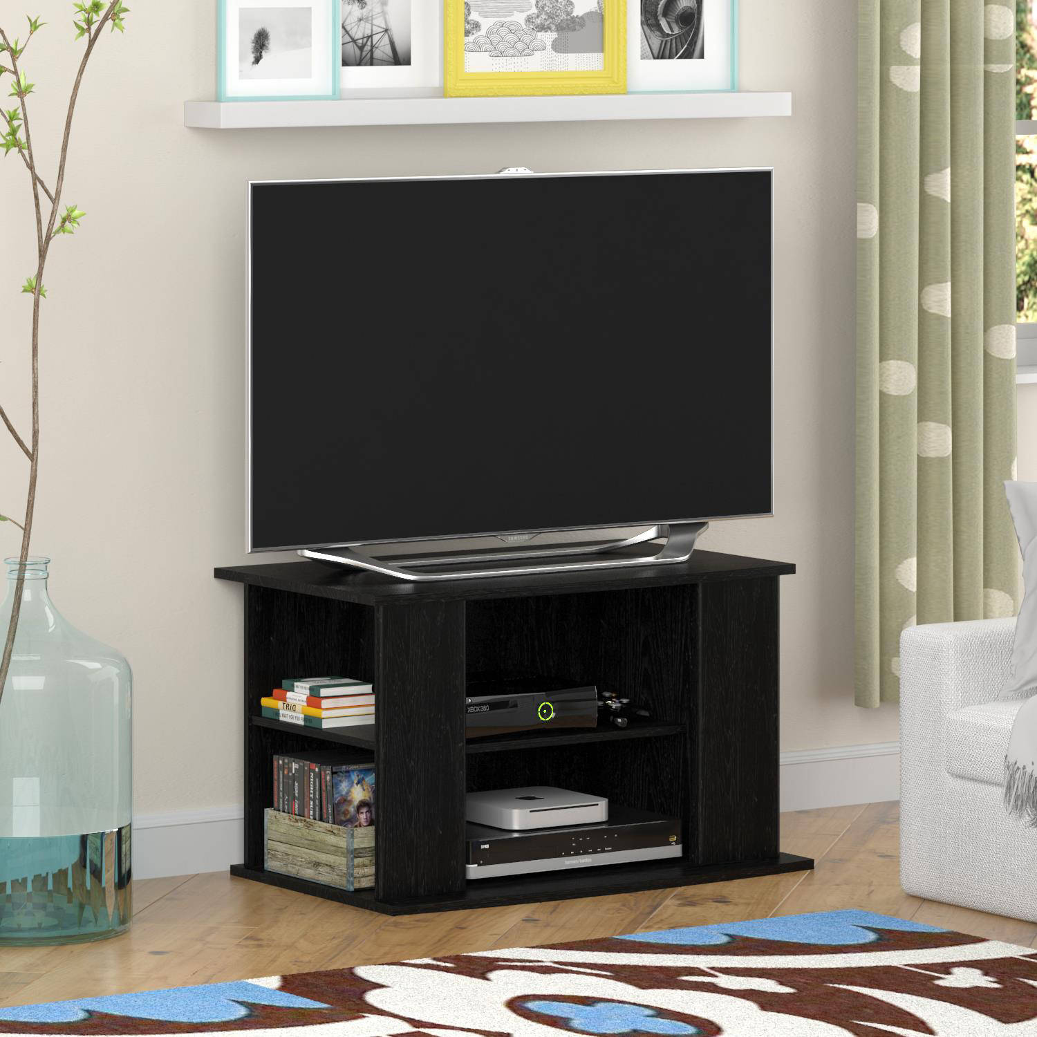 """Mainstays TV Stand with Side Storage for TVs up to 32"""", Multiple Colors"""