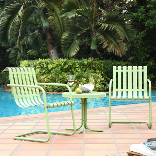 Crosley Furniture Gracie 3-Piece Metal Outdoor Conversation Seating Set