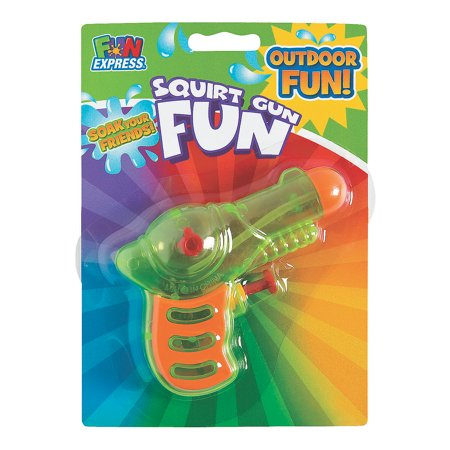 Neon Grip Squirt Guns - Toys - Active Play - Water Toys - 12 Pieces