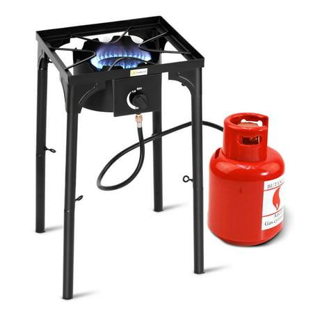 Goplus Portable Propane 100000BTU Single Burner Outdoor Camp Stove w Adjustable Legs (Outdoor Camp Stoves)