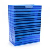 Hallmark Oversized Gift Bag (Blue Foil Stripes)