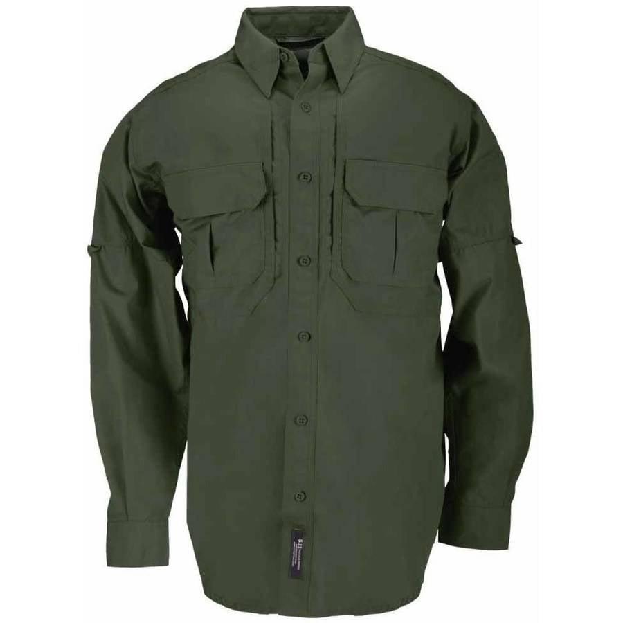 Cotton Tactical Long Sleeve Shirt, OD Green