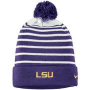 LSU Tigers Nike Sideline Cuffed Knit Hat with Removable Pom - Purple - OSFA