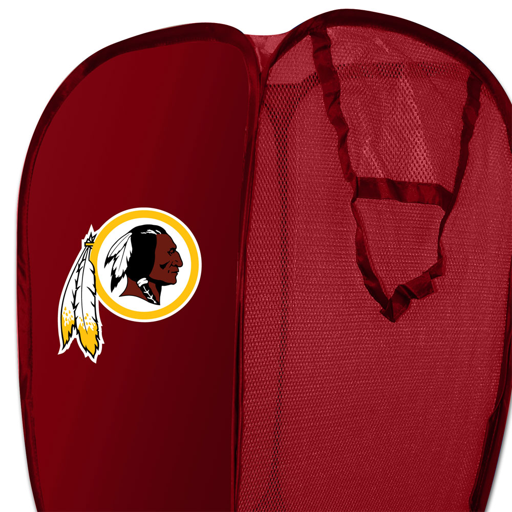 NFL Washington Redskins Pop-Up Laundry Hamper Football Team Logo Storage Basket
