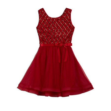 - Girl's Sequin Bow Dress