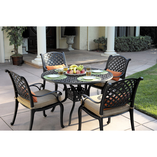 Fleur De Lis Living Lincolnville 5 Piece Dining Set with Cushions
