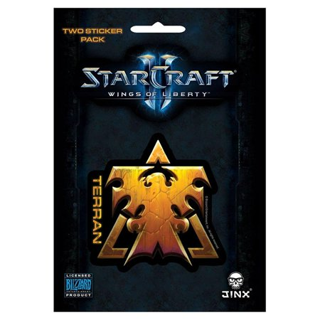 StarCraft II: Wings of Liberty Multi-size Sticker 2-Pack: Terran, (Starcraft 2 Wings Of Liberty Release Date)