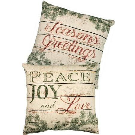 PEACE, JOY, & LOVE Large Christmas Throw Pillow, 20