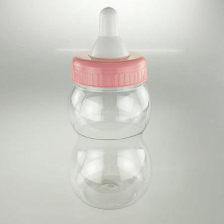 Large Plastic Baby Milk Bottle Coin Bank, 13-inch, Light - Baby Bottle Coin Bank