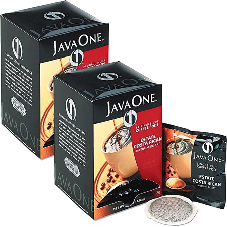 (2 Pack) Java One, Costa Rican 14 Single Cup Coffee Pods, 6 Ct (Estate Costa Rican Pods)