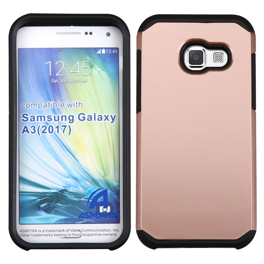 official photos e33a3 53519 Insten Hard Dual Layer TPU Cover Case For Samsung Galaxy A3 (2017) - Rose  Gold/Black
