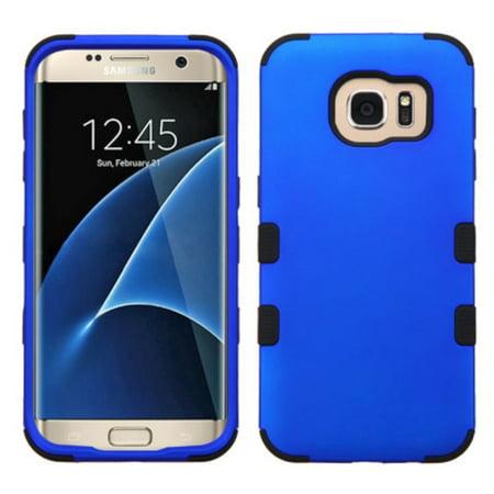 MyBat Tuff Hard Dual Layer Rubberized Silicone Case For Samsung Galaxy S7 Edge - Blue/Black - image 6 of 6
