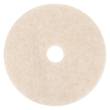 3M 3200 Burnishing Pad,17 In,Peach,PK5 G2484483