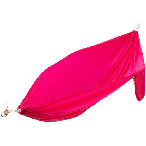 2-Person High-Thread-Count Parachute Hammock with Ropes and Carabiners