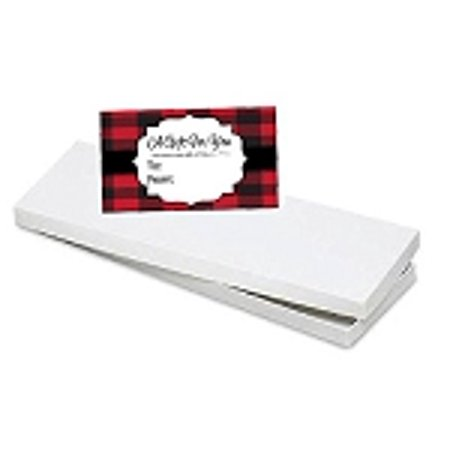 BundleOfBeauty HG79T - 4pk Scarf/ Tie / Socks White gift packaging Box with Buffalo Plaid Gift