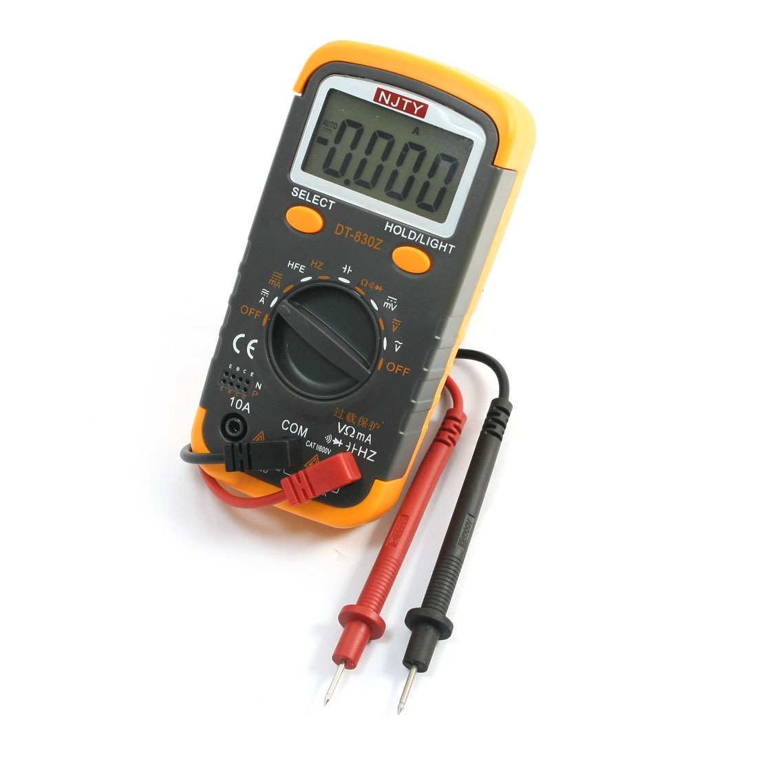 Battery Powered LCD Display Volt Current Frequency Resistance Digital Multimeter