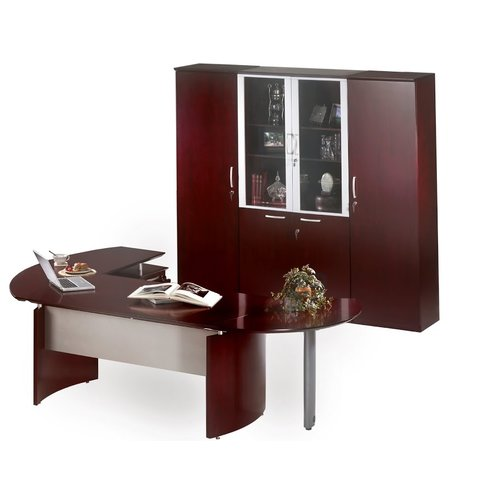 Mayline Group Napoli Series 4-Piece L-Shape Desk Office Suite
