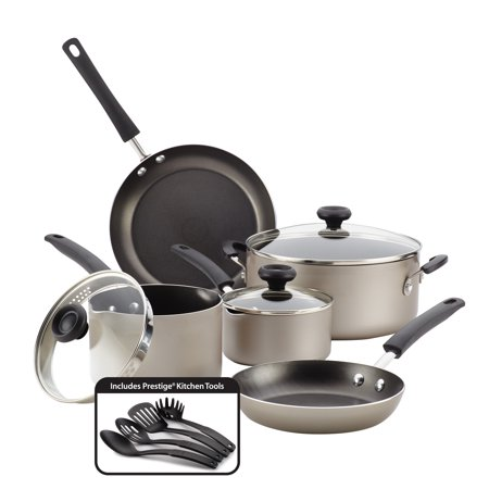 Farberware Stainless Steel Classic Cookware - Farberware Easy Clean Aluminum Nonstick Cookware Set
