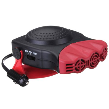 - Car Heater, Portable 60 Seconds Fast Heating Quickly Defrosts Defogger 12V 150W Auto Ceramic Heater Cooling Fan 3-Outlet Plug In Cig Lighter (Red)
