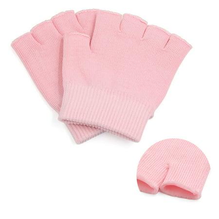 1 Pair Pink Half Finger Moisturizing Cracked Skin Hand Care Gel
