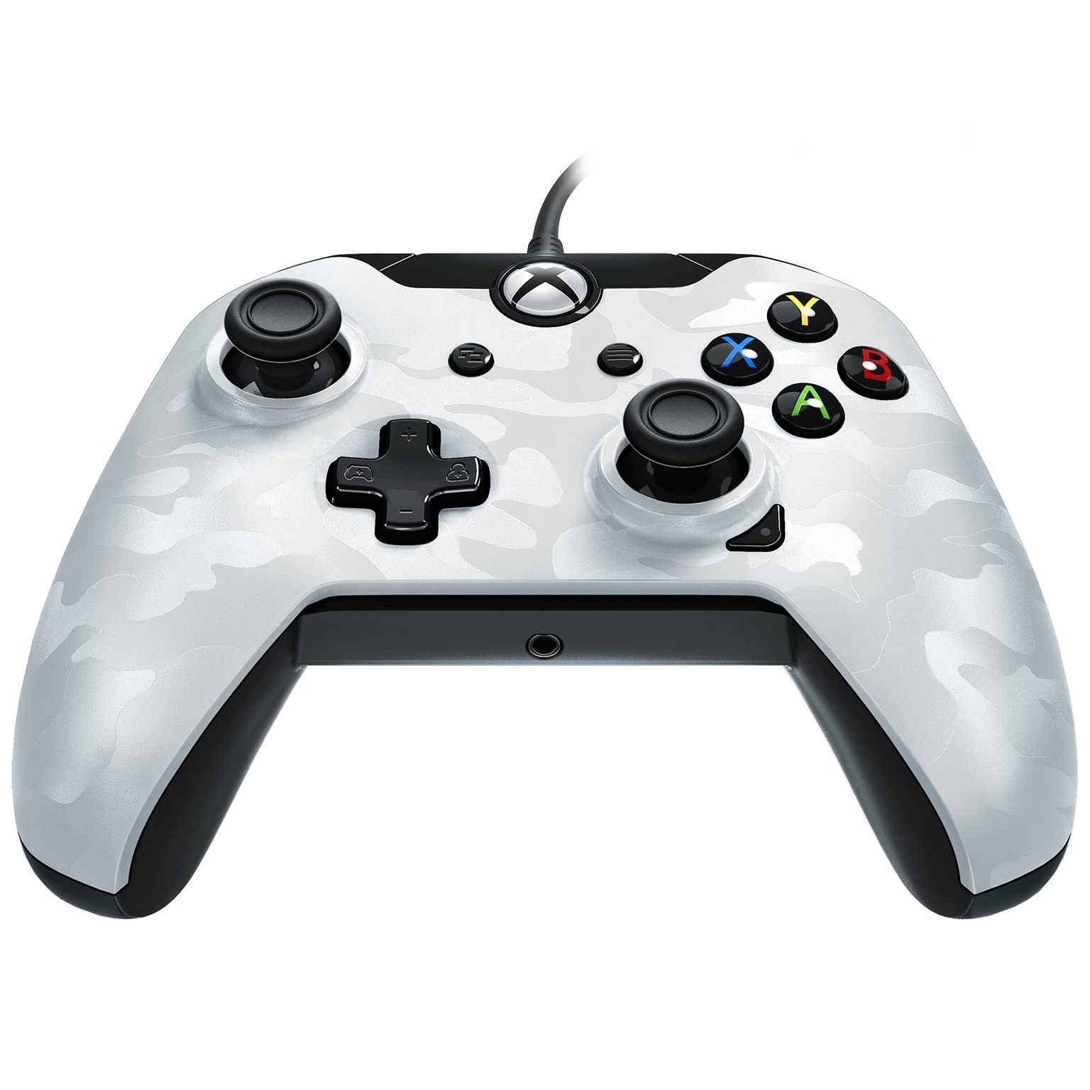 PDP Xbox One, Stealth Series Wired Controller, Ghost White, 048-082-NA-CM01