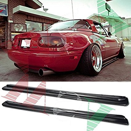 EOS Side Skirts Rocker Panels Body Kit - For Mazda Miata MX-5 90-97 1990 1991 1992 1993 1994 1995 1996 1997 JDM FD Style