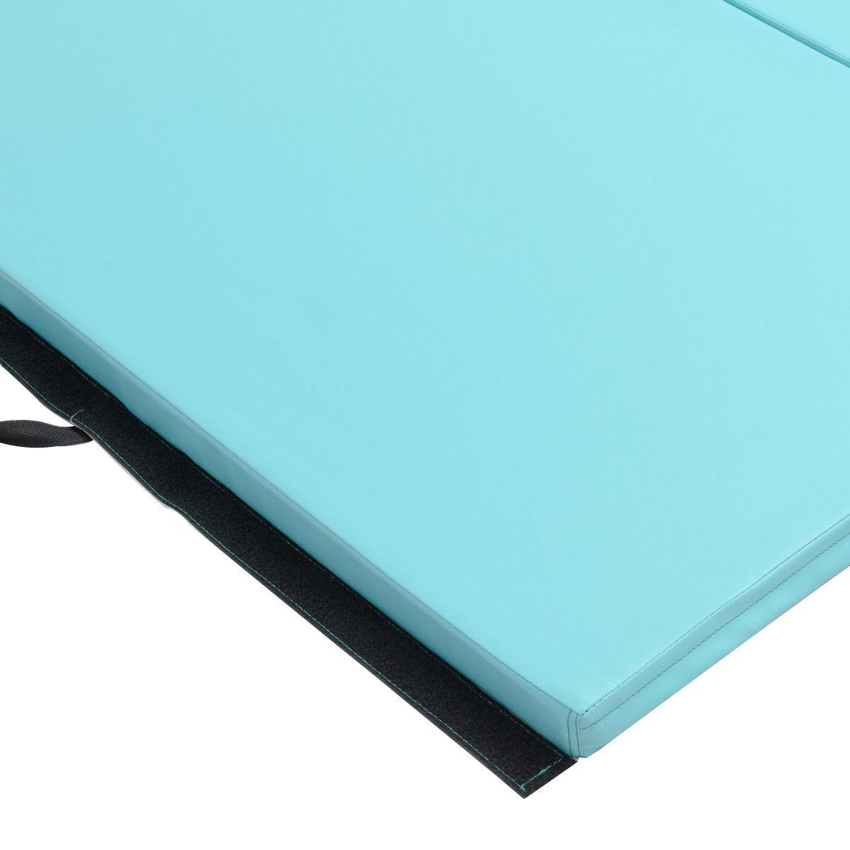 "4'x10'x2"" Gymnastics Mat Thick Folding Panel Aerobics Exercise Gym Fitness Blue - image 4 de 8"