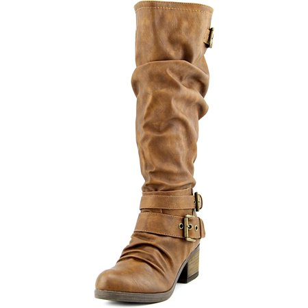 Carlos by Carlos Santana Claudia Wide Calf Round Toe Synthetic Knee High Boot