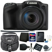 """Canon PowerShot SX420 IS 20.0MP HD 720p Video Recording 1.2.3"""" CCD 42x Optical Zoom Lens 24-1008mm (35mm Equivalent) Built-In Wi-Fi ISO 1600 Black Digital Camera 32GB Accessory Kit"""