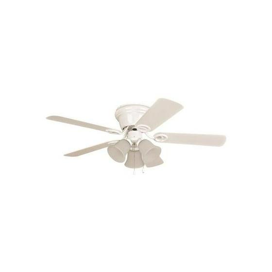 Ellington Wyman 42 In. White Hugger-Mount Ceiling Fan With