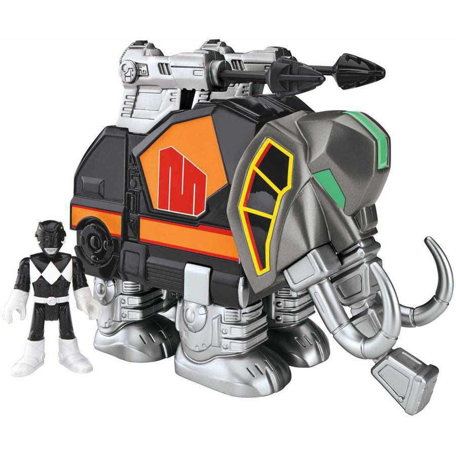 IMaginext Power Rangers Black Ranger and Mastodon by FISHER PRICE