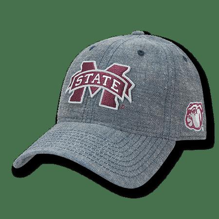 NCAA MSU Mississippi State U Bulldogs Relaxed Denim Baseball Caps Hats Blue - Msu Bulldogs
