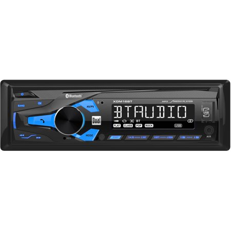 dual electronics xdm16bt high resolution lcd single din car stereo with  built-in bluetooth, usb & mp3 player - walmart com