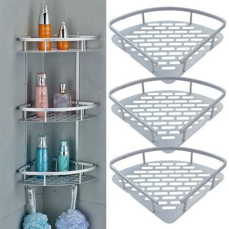 3 Tier Bathroom Corner Storage Shower Rack Shelf Organizer E Saving Triangular Caddy Basket Display Holder For Home Kitchen Office