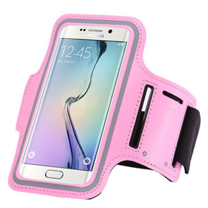 Tech Express Sport Gym Armband for Samsung Galaxy S5 (with Key Pocket) - Pink