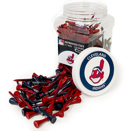 Cleveland Golf Shirts - Team Golf MLB Cleveland Indians Jar Of 175 Golf Tees