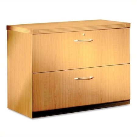 Mayline Aberdeen 2 Drawer Freestanding Lateral Filing Cabinet In Maple 36