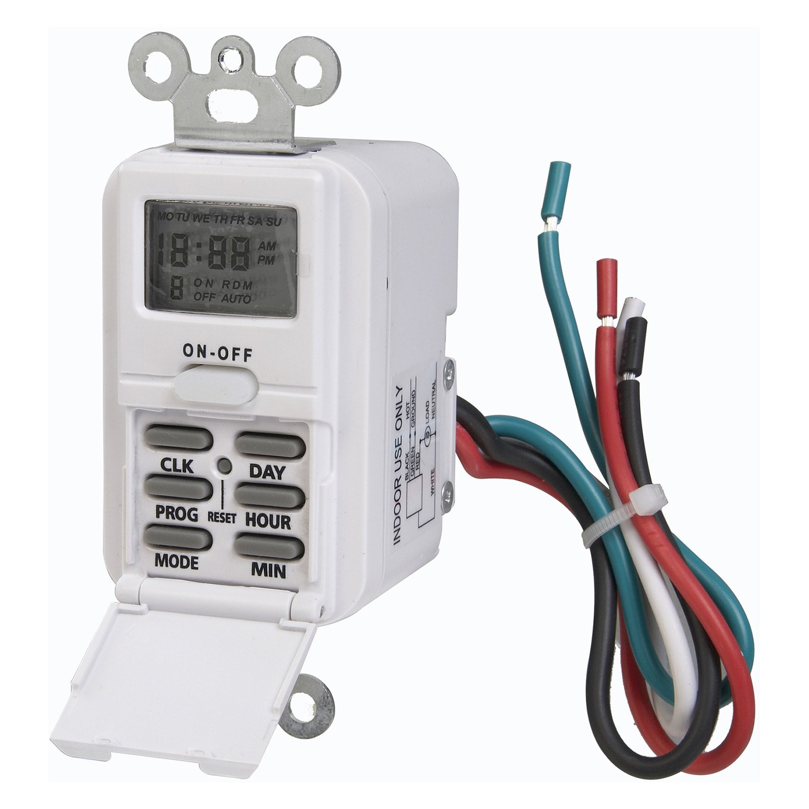 AmerTac TMDW10 Indoor Wire-In Weekly Digital Timer