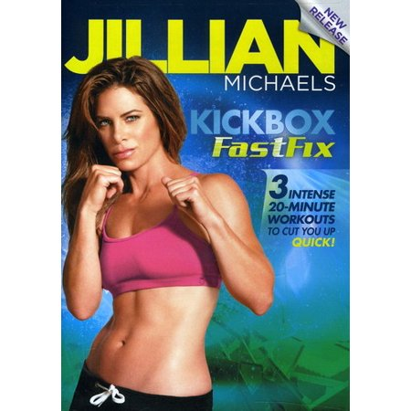 JILLIAN MICHAELS-KICKBOX FASTFIX (DVD) (DVD) (Jillian Michaels The Biggest Winner Cardio Kickbox)