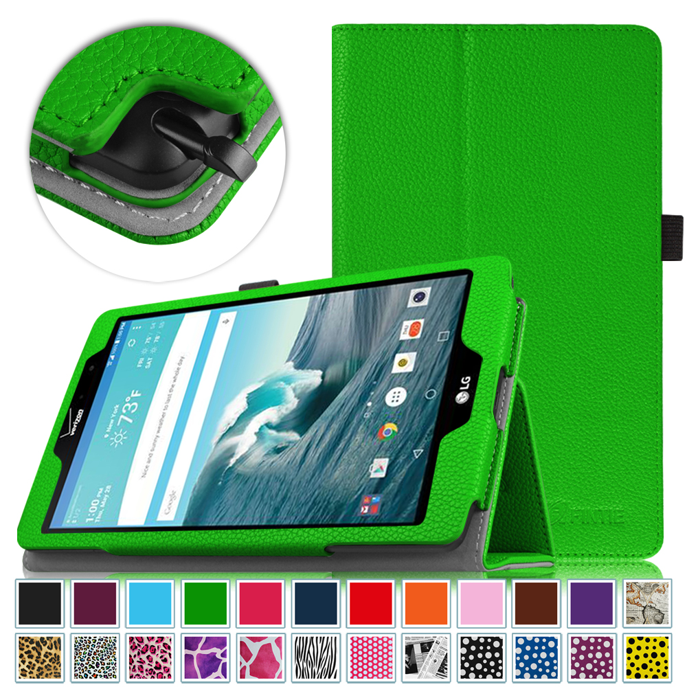 LG G Pad X8.3 Inch (4G LTE Verizon Wireless VK815) Android Tablet Case - Fintie Folio Cover with Auto Sleep\/Wake, Green
